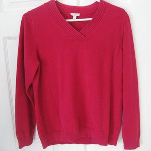 Women's Talbot Raspberry Sweater Large